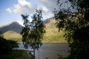 View from the cottage of Loch Leven